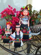 3 Antique Dolls in National Dress from Deceased Estate Collection Ballajura Swan Area Preview
