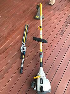 Ryobi Line Trimmer with Hedge Trimmer Attachment Wakerley Brisbane South East Preview