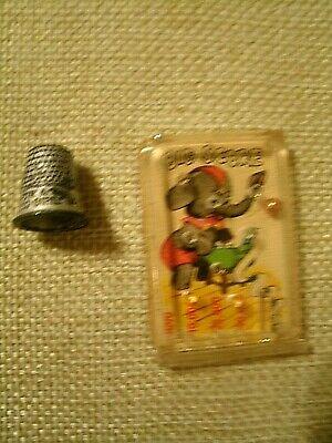 Vintage Cracker Jack Prize Toy Metal Thimble For A Good Girl & Big Score Pinball