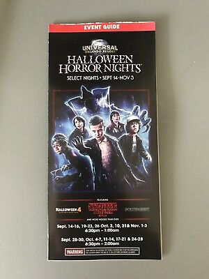 2018 HHN 28 Universal Studios Orlando Halloween Horror Nights Brochures Maps (Universal Studios Halloween Horror Nights)