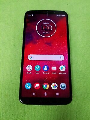 Motorola Moto Z3 64GB Black XT1929-17 (Verizon) Android Smartphone GD733