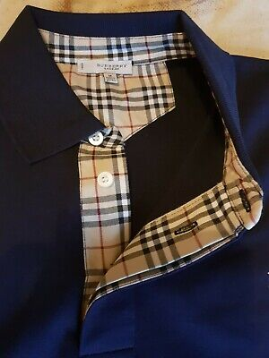 """BRAND NEW AUTHENTIC MENS BURBERRY POLO SHIRT SIZE M  PIT 2 PIT 21 1/2"""""""