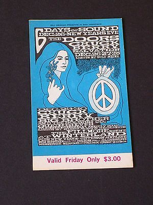 BG099 THE DOORS Psychedelic FILLMORE TICKET by Bonnie MacLean