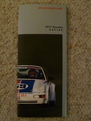 1991 Porsche 911 Turbo Racing Showroom Sales Folder RARE!! Awesome L@@K