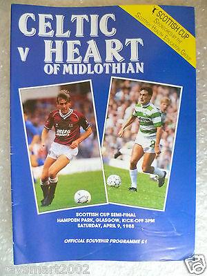 1988 Scottish Cup Semi FINAL - CELTIC v HEART OF MIDLOTHIAN, 9th April