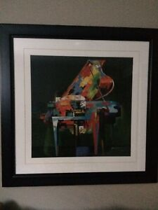 ABSTRACT PRINT OF PIANO