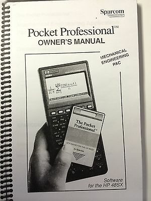 Users Guide for Sparcom Mechanical Engineering Application Pac for HP 48SX/48GX