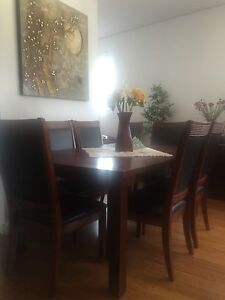 Dinning Table + 8 Chairs ( pick up only ) Lane Cove North Lane Cove Area Preview