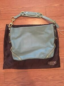 Like new genuine leather coach bag