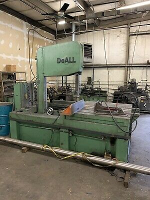 Doall Tilt Frame Vertical Band Saw Hydraulic Feed Clamp