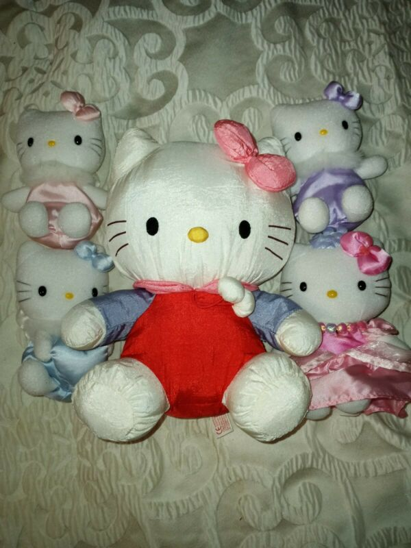Lot of 5 Hello Kitty Plush Lot Sanrio