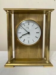 Longines Mantel Table Shelf Clock Solid Brass Metal German Vintage Mantle