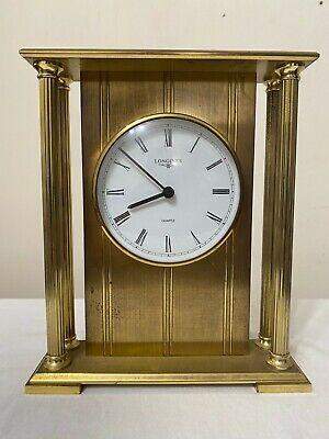 Longines Mantel Table Shelf Clock Solid Brass Metal German Vintage Mantle