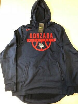 Mens Nike Therma Fit Gonzaga Bulldogs Basketball Elite Pullover Hoodie Xl