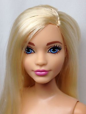 NEW! NUDE BLONDE BLUE EYES-Mattel CURVY Evolution Barbie Doll For OOAK