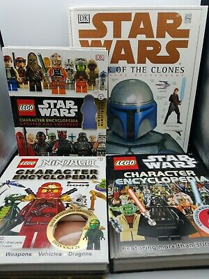 Lot Of 4 Lego Star Wars & Ninjago Character Encyclopedia NO FIGURINES