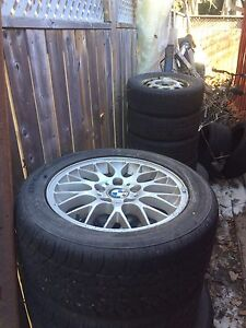 BMW rims with tires