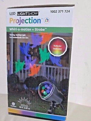 New LightShow LED Projection Whirl-a-Motion + Strobe ( - Strobe Lichterkette