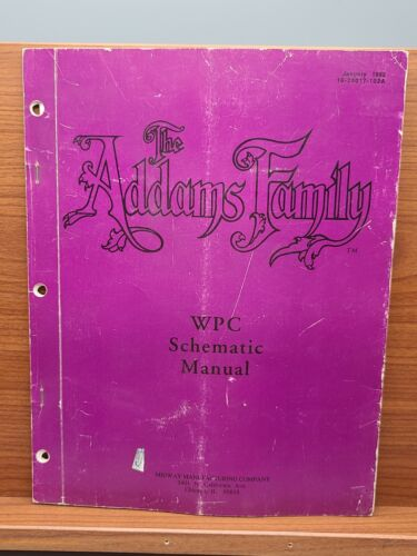 THE ADDAMS FAMILY Pinball Machine WPC SCHEMATIC MANUAL Williams 1992