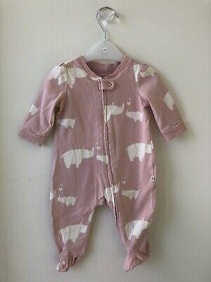 Baby Gap 0 - 3 Months Organic Zip Sleepsuit