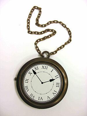 Clock Necklace Rapper ( OLD SCHOOL HIP HOP RAPPER OVERSIZED CLOCK NECKLACE HALLOWEEN PROP)