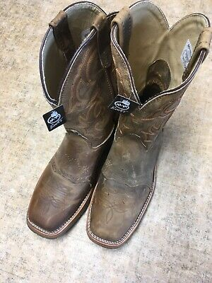 Men's New 13 D M Double-H Brown Comp Safety Square Toe Boots. DH3567. **U*S*A**