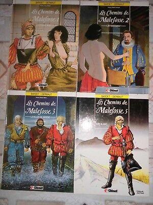Les chemins de Malefosse - lot de 4 albums (n°1, 2, 3 et 5) - RE