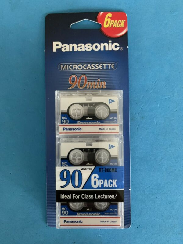 Panasonic Microcassette Tape 90 Minute MC-90 6 Pack New Sealed
