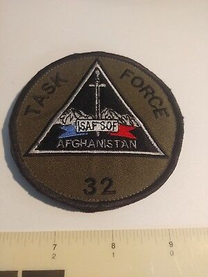 TASK FORCE 32 ORIGINAL PATCH ISAF SPECIAL OPERATIONS AFGHANISTAN