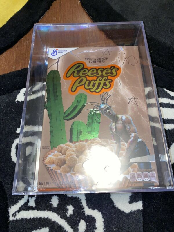 Travis Scott x Reeses Puffs Acrylic Box Special Limited Edition Brand New