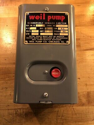 New Weil Pump 861-f Submersible Sewage Ejector- 34 Hp 440v Phase 3 60 Cycles