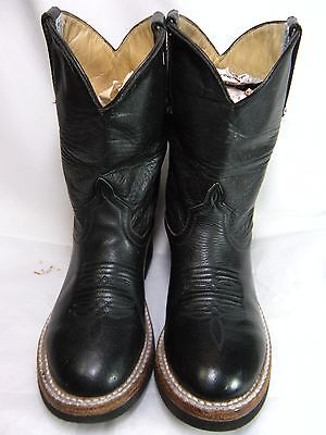 (ANDERSON BEAN  Childrens / Toddler Cowboy Boots Size 2 Black Leather #239 OS )