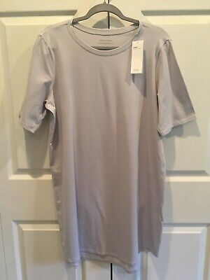 NWT Eileen Fisher Crew Neck T Shirt Dress Large L NEW Insky Tee Casual Pullover