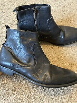 Hudson Leather Boots, Black, Size 11, Great Condition. RRP £180