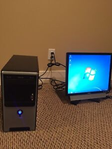 Dell and Asus Desktop Computer with accessories