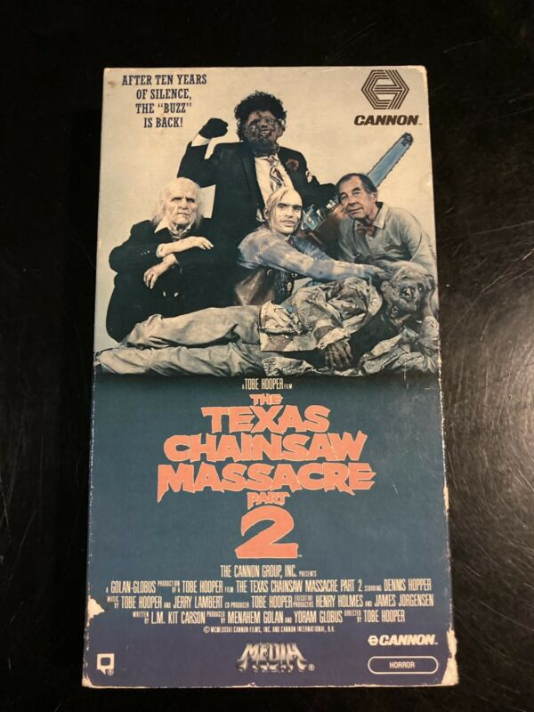 Texas Chainsaw Massacre Part 2 Vhs 1986 Media Horror Cult Vintage Rare Slasher