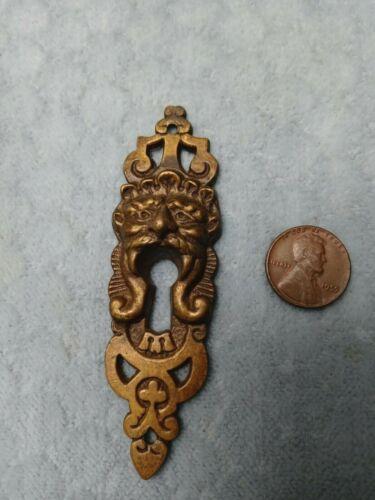 Figural Keyhole Escutcheon Brass Lion