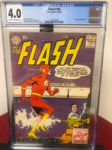 Flash 108 (CGC Graded) Part 3 of Grodd Trilogy