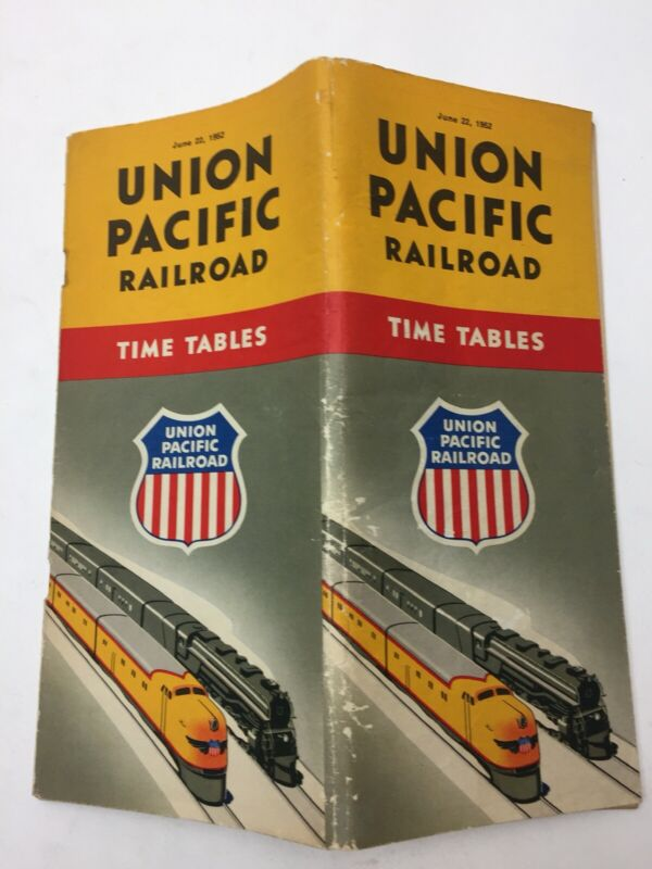 1952 UNION PACIFIC RAILROAD Time Tables