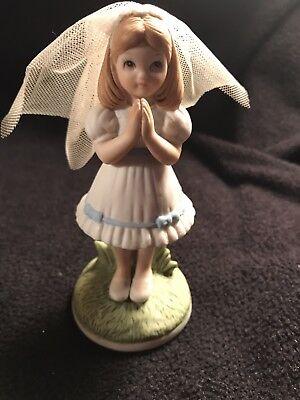 Girl 1st Communion Figurine (~Vintage~  Lefton Christopher Collection ~1st Holy Communion~   Girl Figurine )