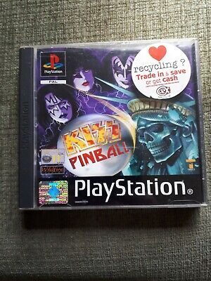 PS1 Kiss Pinball PAL complete with manual .