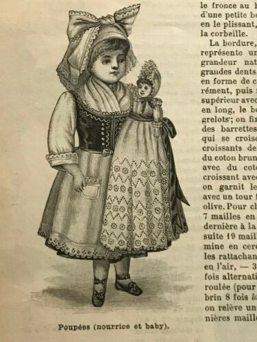 MODE ILLUSTREE SEWING PATTERN Nov 9,1890 -  DOLL outfits patterns