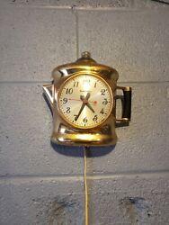 Vintage Matercrafters Coffee Pot Clock