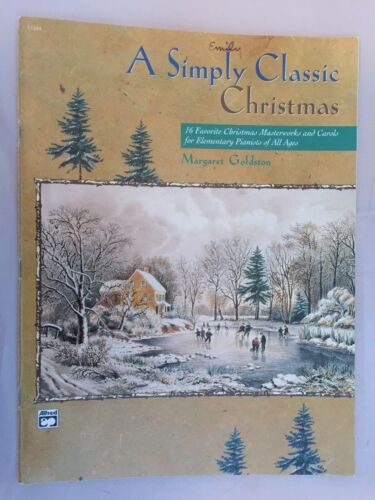 A Simply Classic Christmas Piano Christmas Book from Alfred 1998 Music 16 Carols
