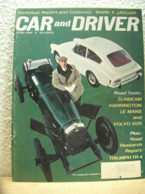 Car & Driver April 1962 - Vintage Cars