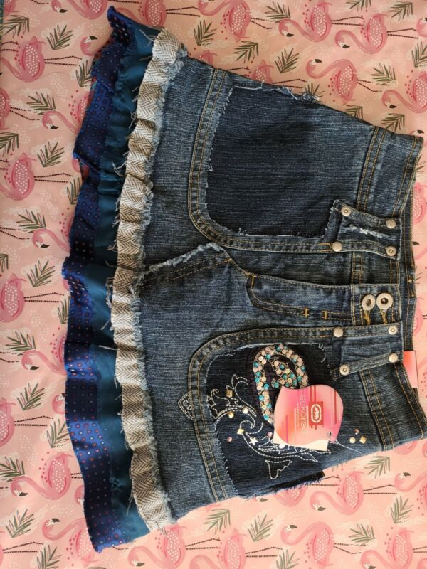 Ecko Red Youth Girls Size 8 Denim Jeans Skirt
