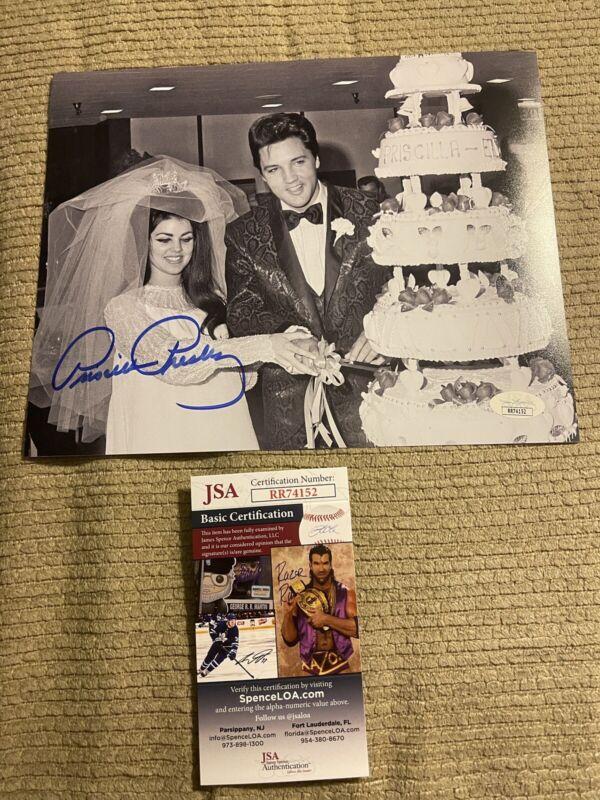 Autographed Priscilla Presley Signed 8x10 Photo Elvis Presley Jsa Coa King