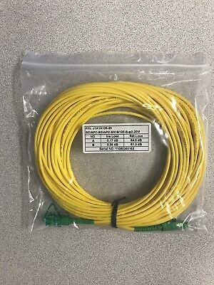 Duplex Single Mode Patch -  SC/SC Duplex  9/125 Single Mode - 20 meter - Fiber Patch Cable