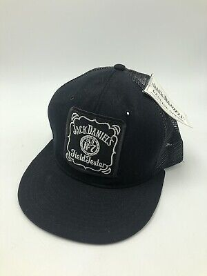 Vintage 1980s Jack Daniels Whiskey Field Tester Trucker Hat Mesh Snapback NWT