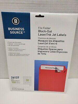 Business Source File Fldr Labels Block-out Lsrinkjet 750pk 23x3-716 26137